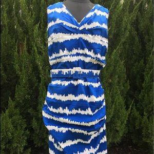 Samantha Sung New York Graphic Tie Dye Print Dress